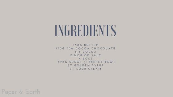 Ingredients Chocolate Tart