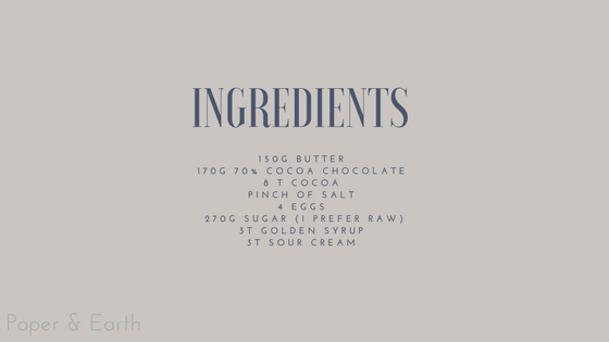 Ingredients Chocolate Tart