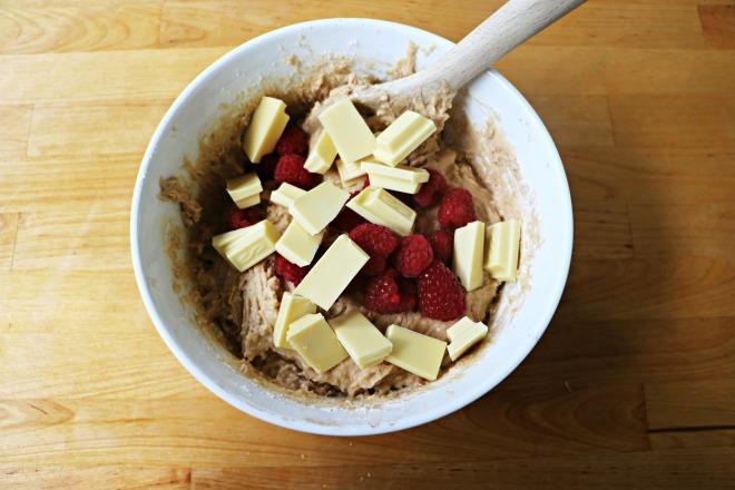 IMG_7995Raspberry and White Chocolate Muffins