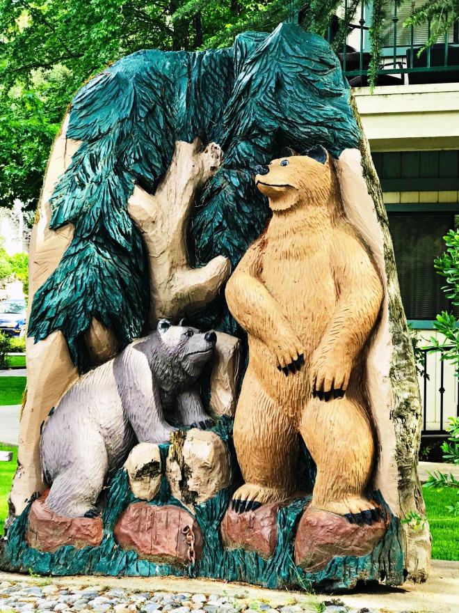 Bear Mural Cedar Lodge