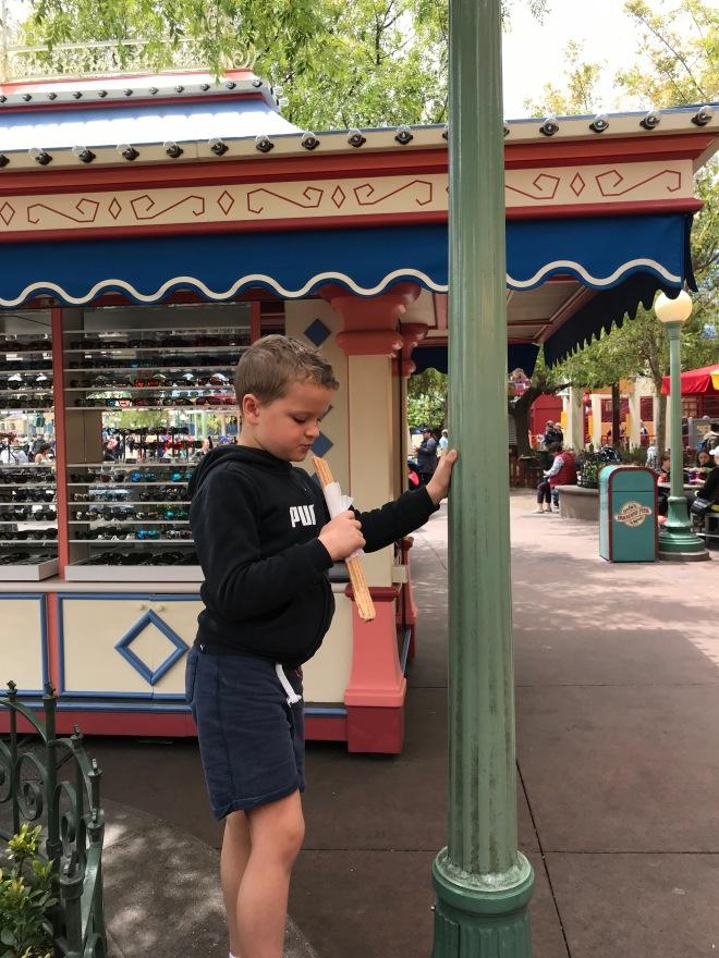 RJ Eating a Churro
